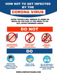 Corona virus / covid_19 prevention flyer