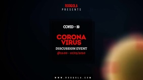 Corona Virus วิดีโอหน้าปก Facebook (16:9) template