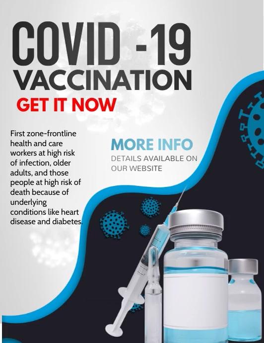 corona virus flyers,vaccination Pamflet (VSA Brief) template