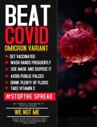 Corona virus flyers template