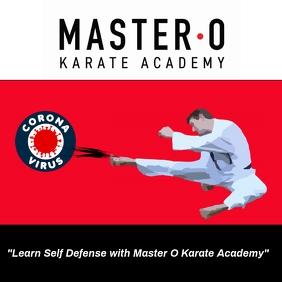 Corona Virus Karate Academy Ad