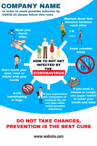 Corona virus Prevention poster infographic
