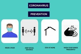 CORONA VIRUS PREVENTION WAYS FLYER Cartaz template
