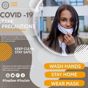 Corona virus template,health Publicación de Instagram