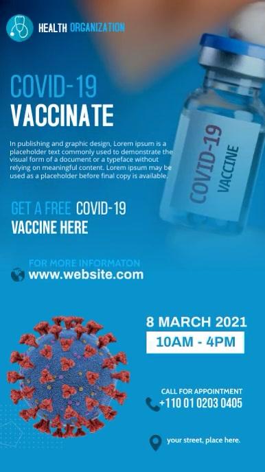 Corona Virus Vaccinate Instagram story template
