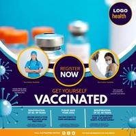 corona Virus vaccination 方形(1:1) template