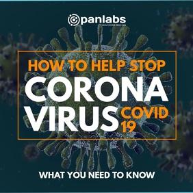 Coronavirus covid 19 basic video square post template