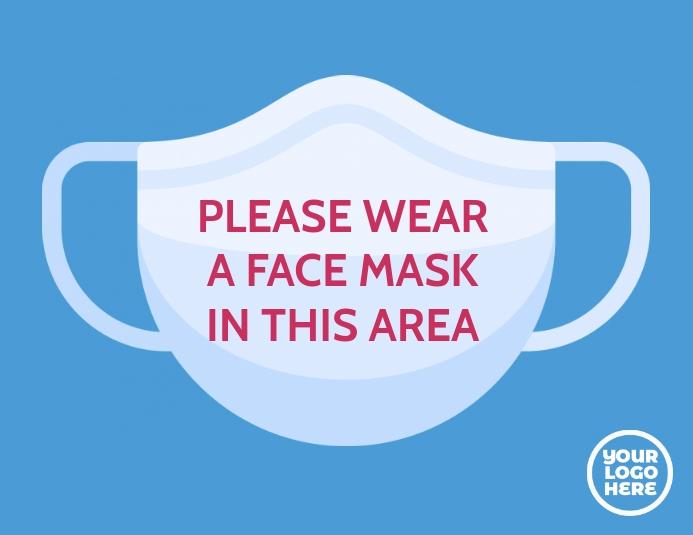 coronavirus covid 19 please wear mask notice template