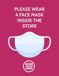 Coronavirus Covid 19 Please Wear Mask Notice