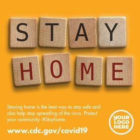 Coronavirus Covid 19 stay home scrabble post