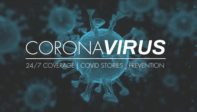 Coronavirus Covid19 blog header video cover 博客标题 template