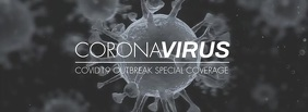 Coronavirus Covid19 fb cover special coverage Fotografia de capa do Facebook template