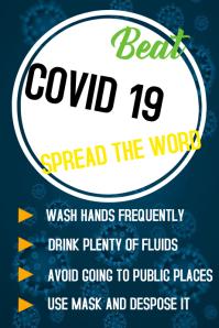 Coronavirus COVID19 poster