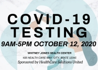 Coronavirus covid19 testing health care Postkarte template