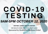 Coronavirus covid19 testing health care Poskaart template