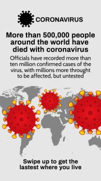 Coronavirus Death Toll Template Instagram Story