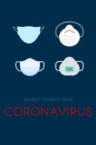 Coronavirus Poster template