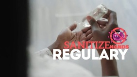 Coronavirus Vídeo de capa do Facebook (16:9) template