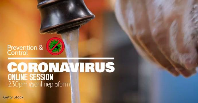 Coronavirus Facebook Shared Image template