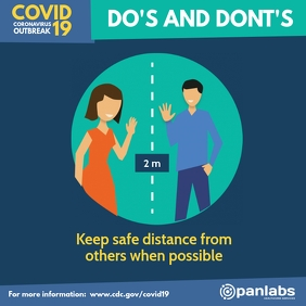 Coronavirus Do's and Don'ts distancing flyer