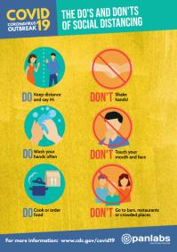 Coronavirus Do's and Don'ts distancing poster