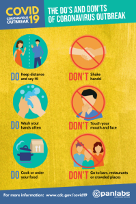 Coronavirus Do's and Don'ts distancing poster