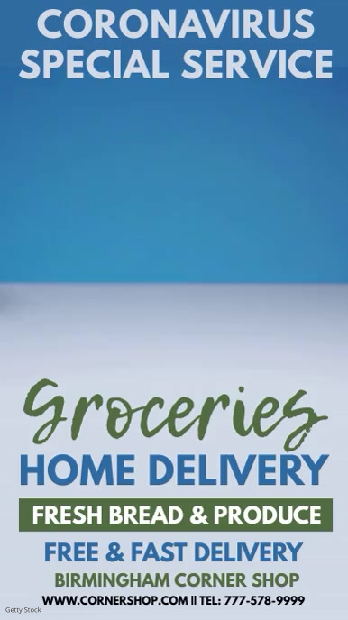 Coronavirus Food Delivery Digital Template