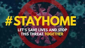 Coronavirus Hashtag Stayhome facebook video