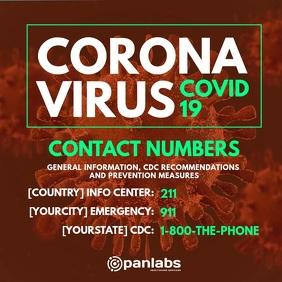 Coronavirus Important Contact Numbers Post template