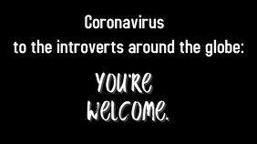 Coronavirus meme for introverts twitter post template