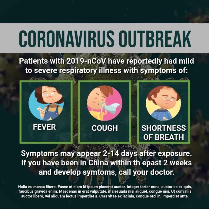 Coronavirus Outbreak Square (1:1) template
