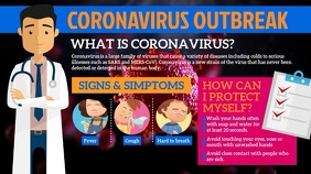 Coronavirus Outbreaks Digital Display (16:9) template