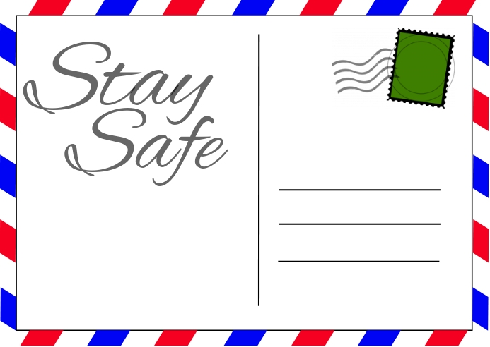 Coronavirus Postcard template
