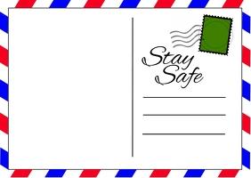 Coronavirus Postcard ไปรษณียบัตร template