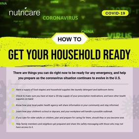 Coronavirus Precautionary Measure for Househo