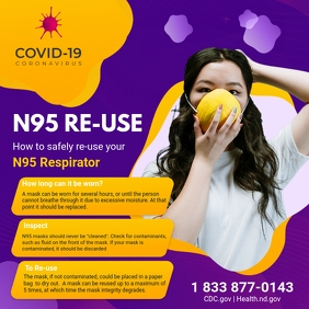 Coronavirus Prevention N-95 Mask Usage Ad