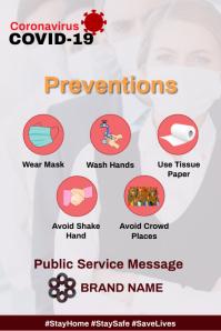 Coronavirus Prevention Poster Design Template