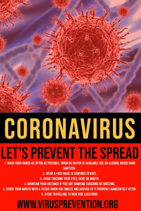 Templat Poster Pencegahan Coronavirus Postermywall