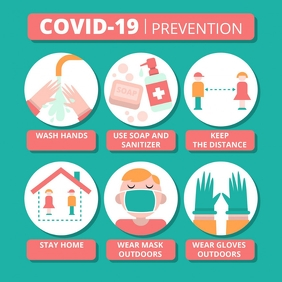 Coronavirus Prevention Template Vierkant (1:1)