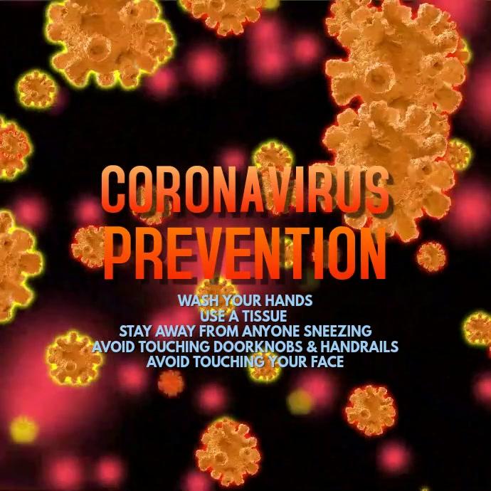 Coronavirus Prevention Video Template