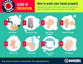 Coronavirus Prevention Wash Hands Flyer