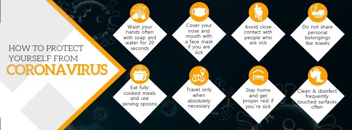 Coronavirus Protection Facebook Cover template