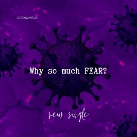 Coronavirus Purple CD Cover Template ปกอัลบั้ม