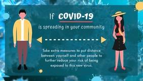 Coronavirus Social Distancing Facebook Cover