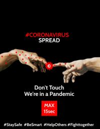 Coronavirus spread Touch Poster Template