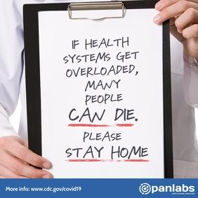 Coronavirus stay home campaign concept