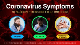 Coronavirus Symptoms Facebook Cover Video