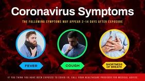 Coronavirus Symptoms Facebook Cover Video