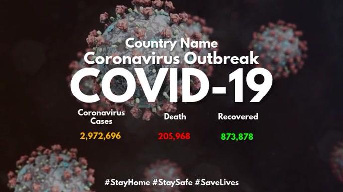 Coronavirus Update Digital Dispaly Design Template Digitalt display (16:9)