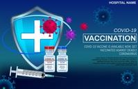 Coronavirus vaccination Tabloid template